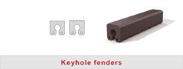 Keyhole rubber fenders