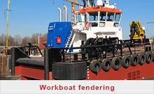 Workboat rubber fenders